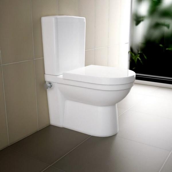 Favorit Stand-Dusch-WC VEN mit Spuelkasten weiss mit integrierter Armatur KZ35