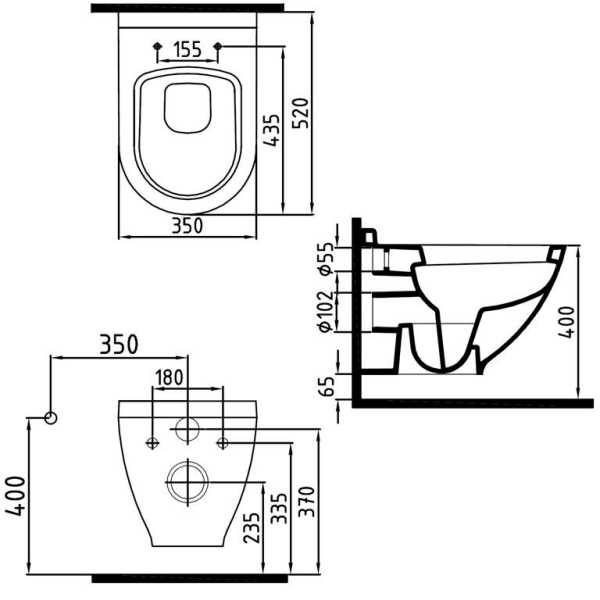 Temtasi WC, Toilette mit Bidet Kombination | {Toilette maße 58}